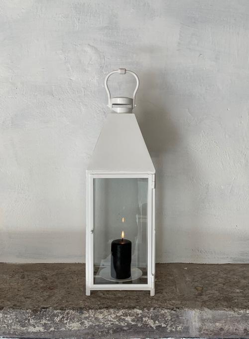 Symi Lantern in White Powder Coat