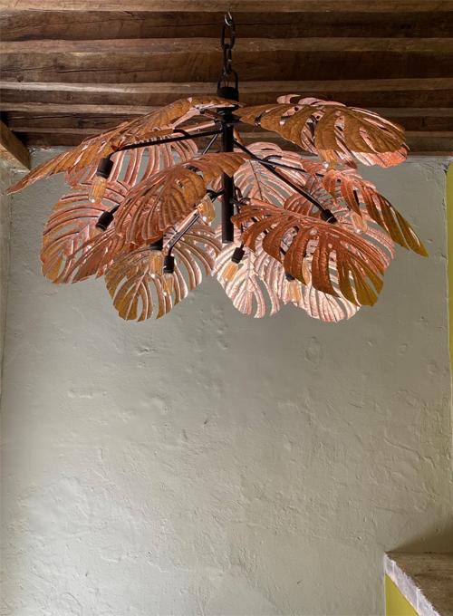 Copper Tropical Leaf